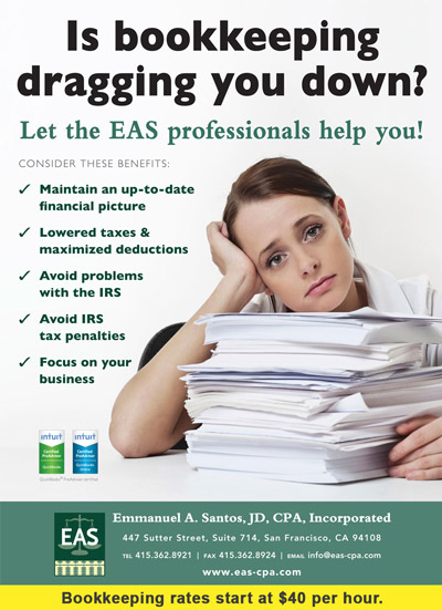 Bookkeeping Services poster image - Take advantage of our knowledgable staff of bookkeepers with rates starting at $40 per hour
